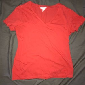 Coral Cotton T Shirt